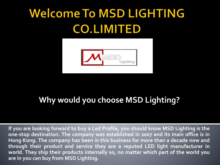 welcome to msd lighting co limited n.