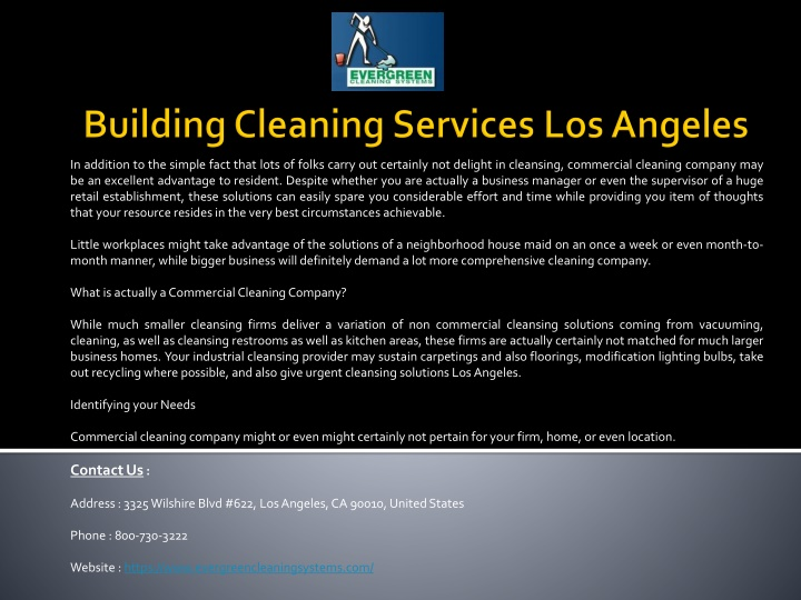 building cleaning services los angeles n.