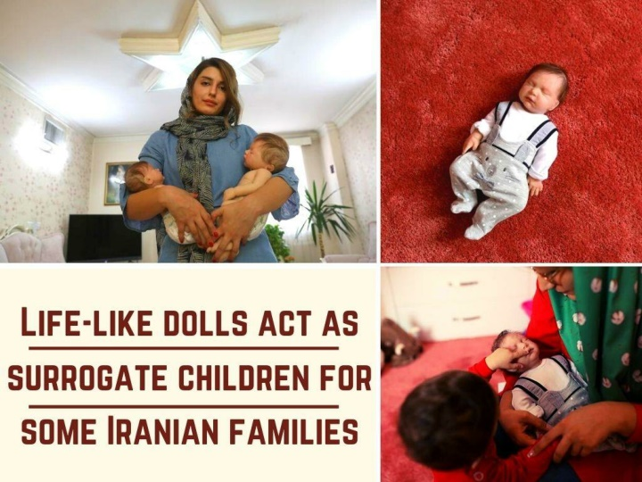 life like dolls act as surrogate children for some iranian families n.