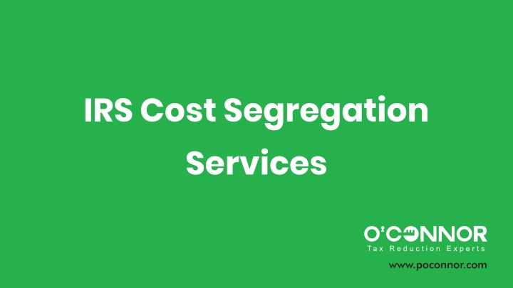 irs cost segregation services n.