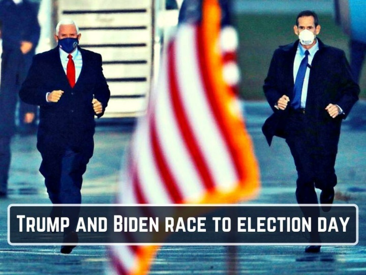 trump and biden race to election day n.
