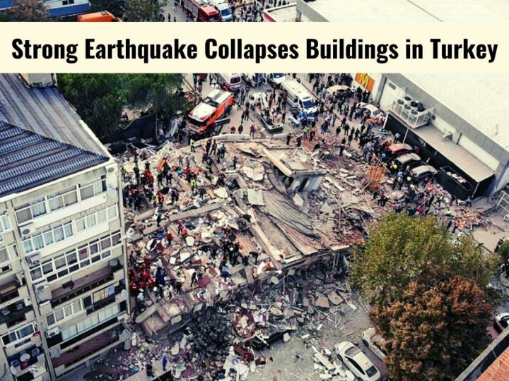 strong earthquake collapses buildings in turkey n.