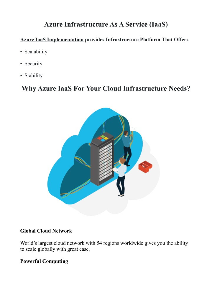 azure infrastructure as a service iaas n.