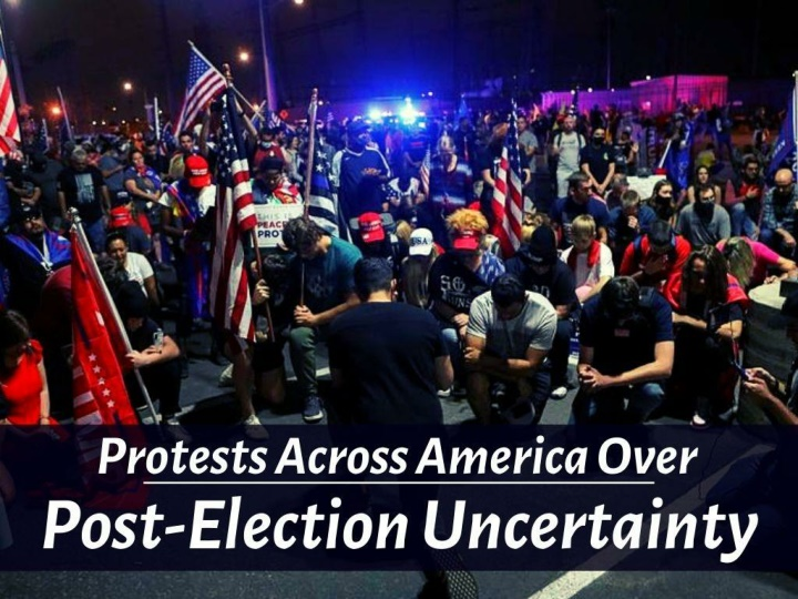 protests across america over post election uncertainty n.