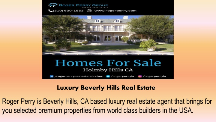 luxury beverly hills real estate n.