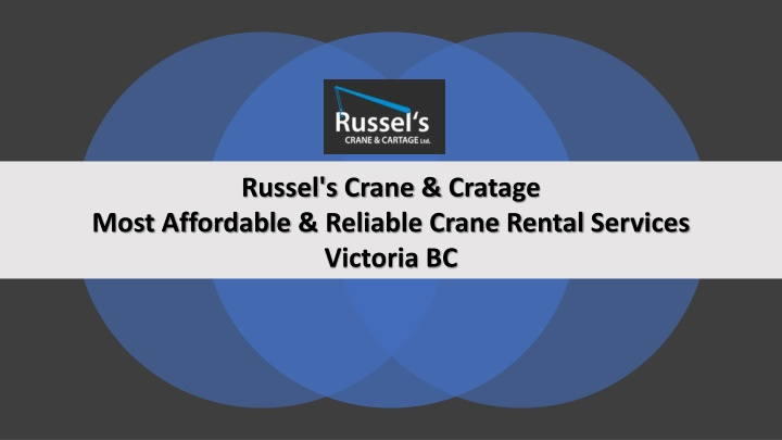 russel s crane cratage most affordable reliable n.