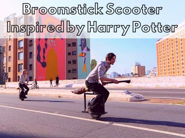broomstick scooter inspired by harry potter n.