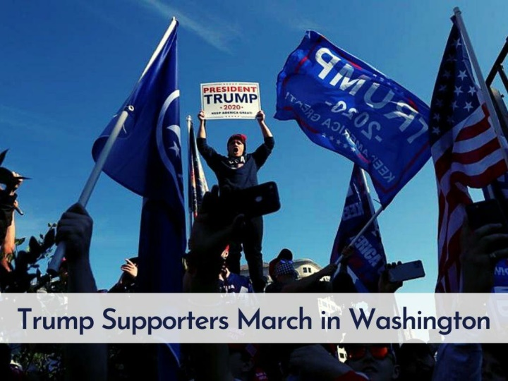 trump supporters march in washington n.