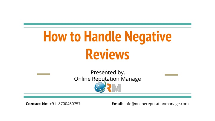 how to handle negative reviews n.