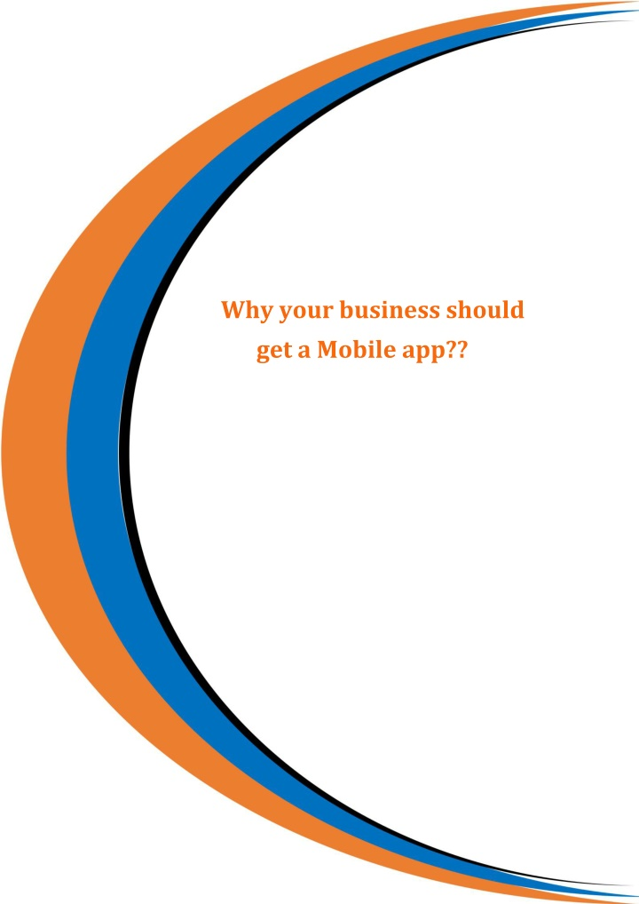 why your business should get a mobile app n.