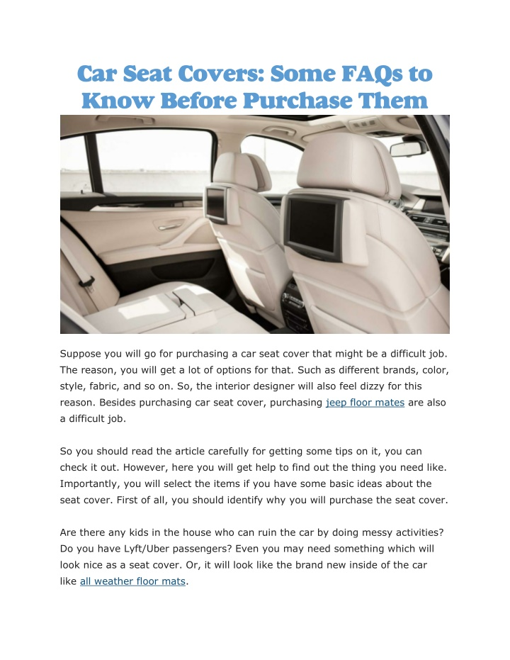 car seat covers some faqs to know before purchase n.