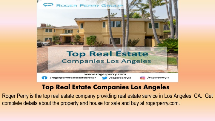 top real estate companies los angeles n.