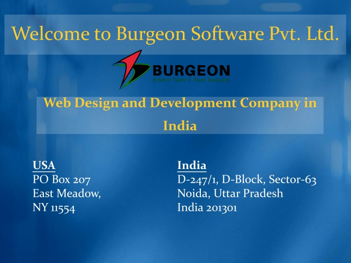 welcome to burgeon software pvt ltd n.