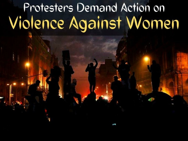 protesters demand action on violence against women n.