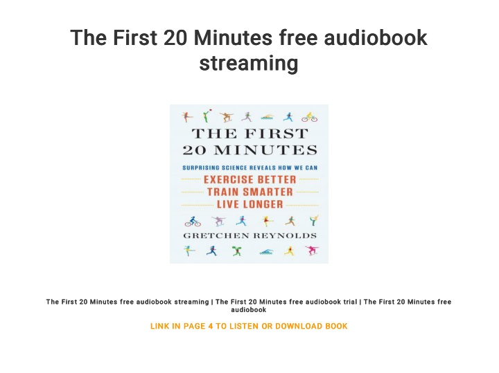 the first 20 minutes free audiobook the first n.