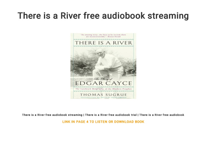 there is a river free audiobook streaming there n.