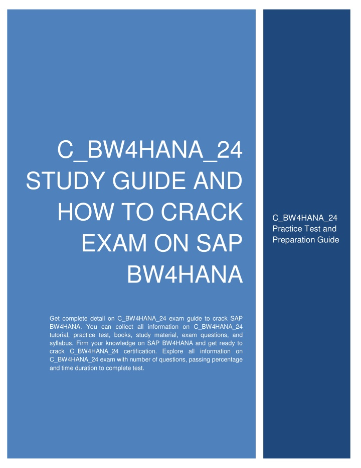 c bw4hana 24 study guide and how to crack exam n.