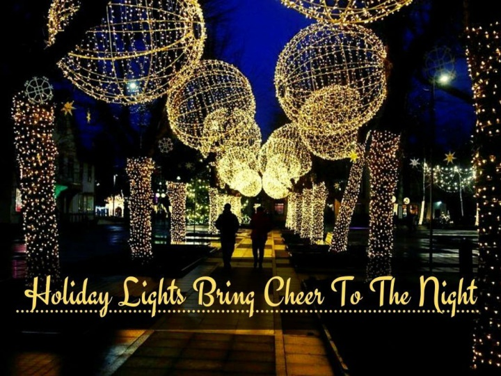 holiday lights bring cheer to the night n.
