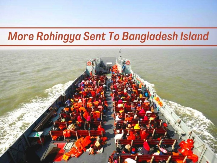 more rohingya sent to bangladesh island n.