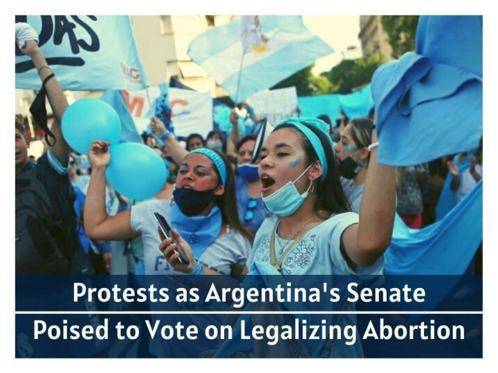 protests as argentina s senate poised to vote on legalizing abortion n.