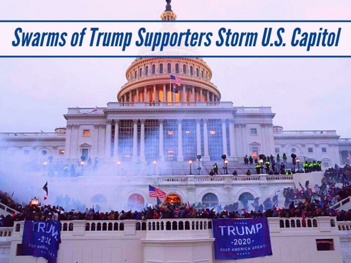 swarms of trump supporters storm u s capitol n.