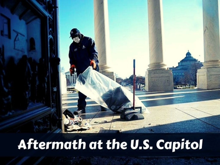 aftermath at the u s capitol n.
