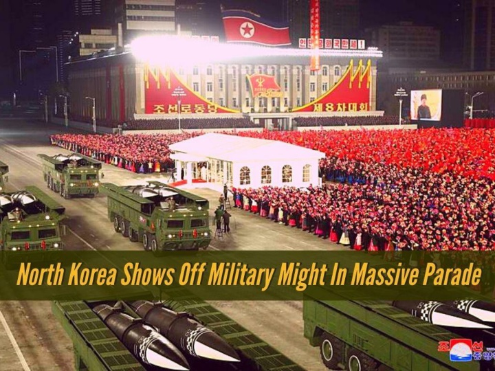 north korea shows off military might in massive parade n.