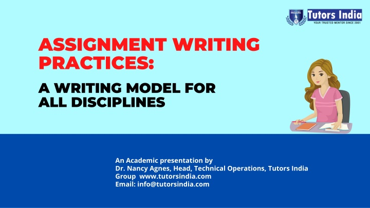 assignment writing practices a writing model n.
