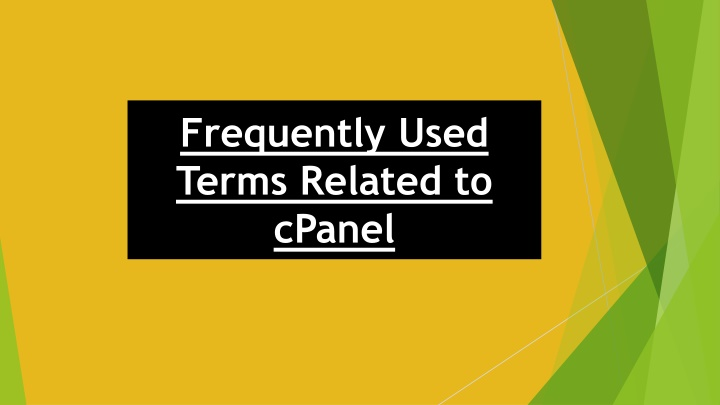 Frequently Used Terms Related to cPanel