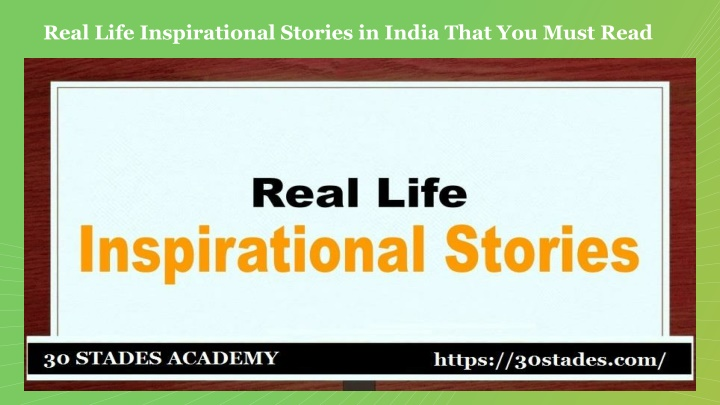 real life inspirational stories in india that n.