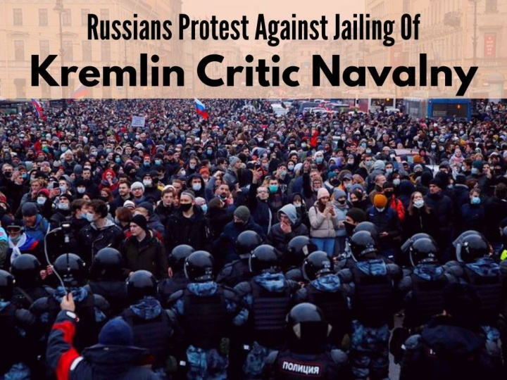 russians protest against jailing of kremlin critic navalny n.