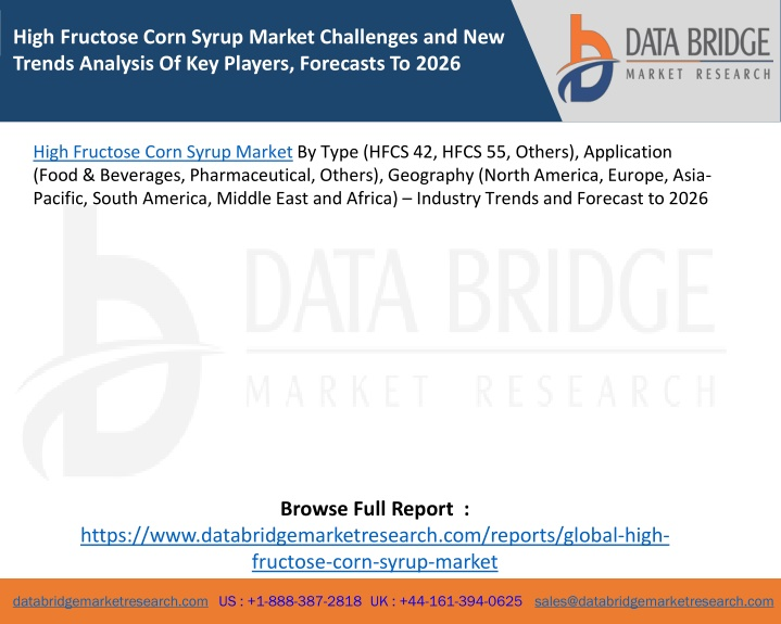 high fructose corn syrup market challenges n.