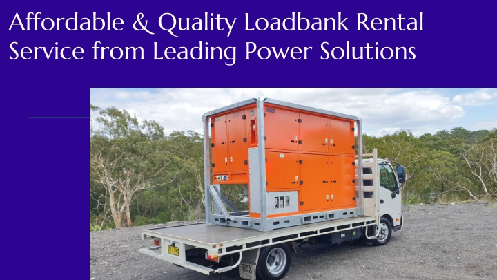 affordable quality loadbank rental service from n.