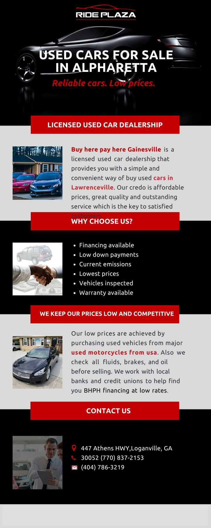 used cars for sale in alpharetta r eliable cars n.