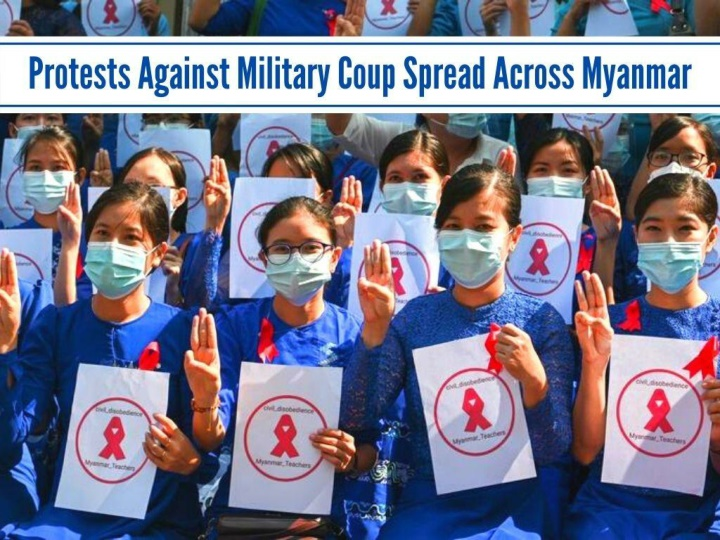 protests against military coup spread across myanmar n.