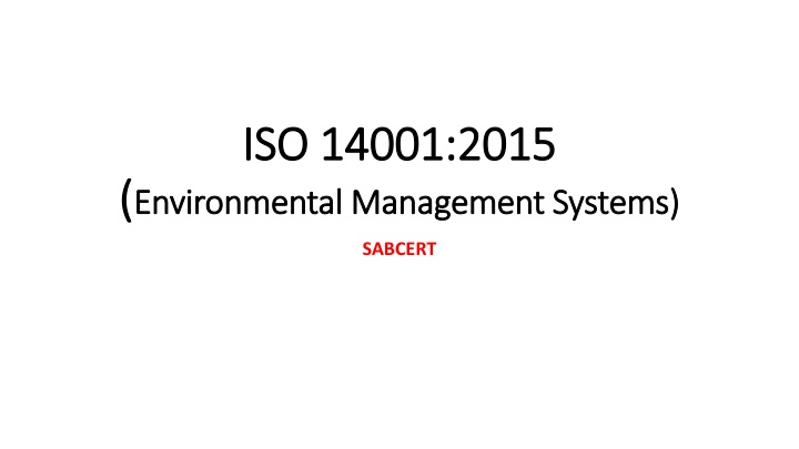 iso 14001 2015 environmental management systems n.