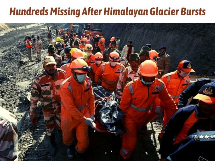 hundreds missing after himalayan glacier bursts n.