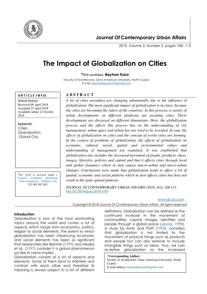 journal of contemporary urban affairs n.