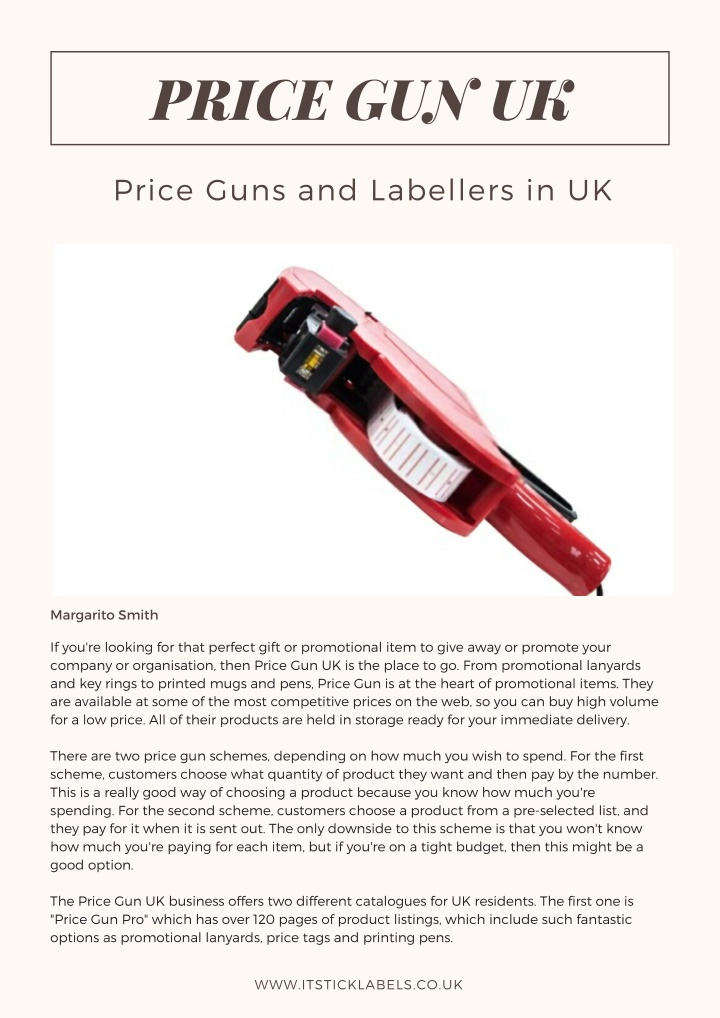 price gun uk n.