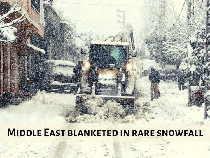 middle east blanketed in rare snowfall n.