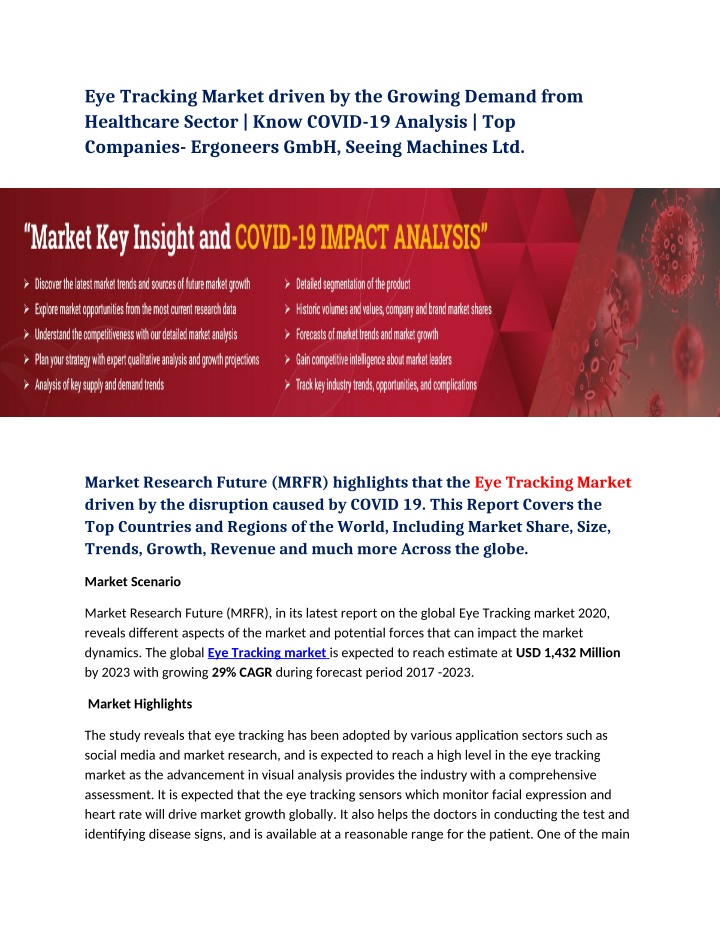 eye tracking market driven by the growing demand n.