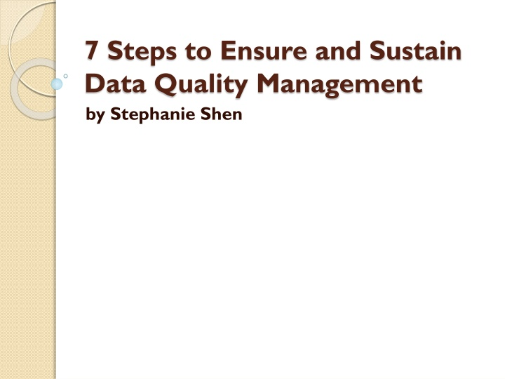 7 steps to ensure and sustain data quality management n.