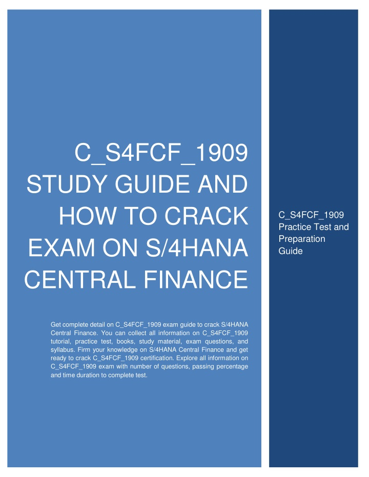 c s4fcf 1909 study guide and how to crack exam n.