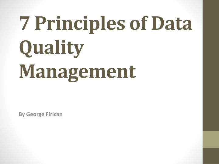 7 principles of data quality management n.