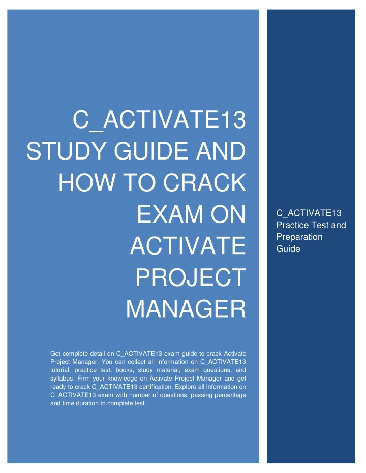c activate13 study guide and how to crack exam n.