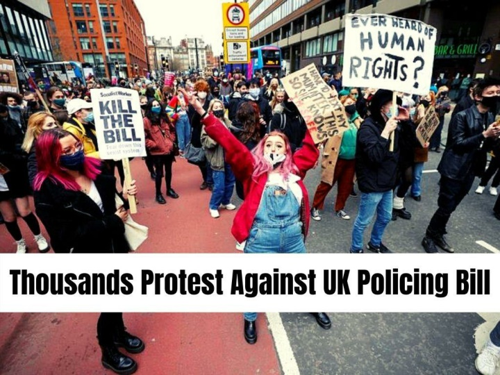 thousands protest against uk policing bill n.