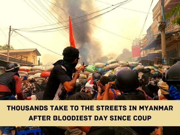 thousands take to the streets in myanmar after bloodiest day since coup n.