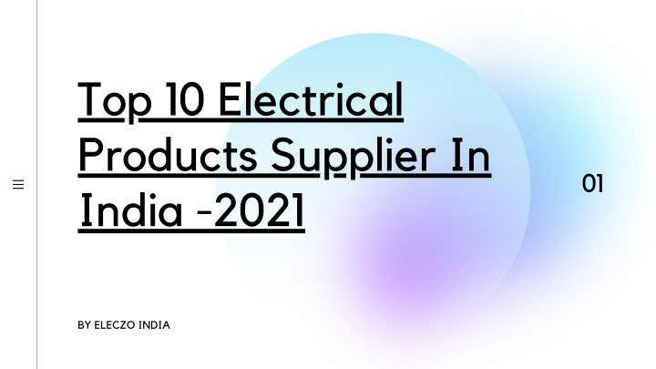 top 10 electrical products supplier in india 2021 n.