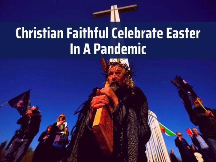 christian faithful celebrate easter in a pandemic n.