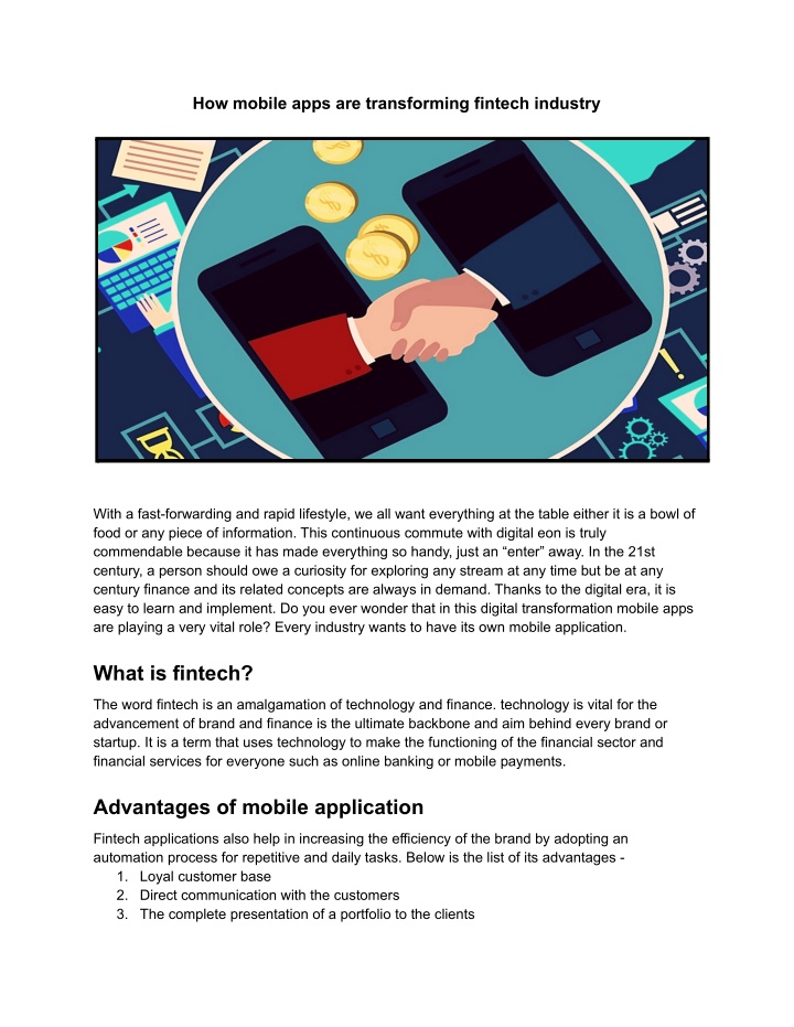 how mobile apps are transforming fintech industry n.